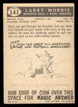 1959 Topps #141  Larry Morris  Back Thumbnail