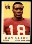 1959 Topps CFL #57  Don Clark  Front Thumbnail