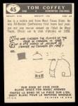 1959 Topps CFL #45  Tommy Joe Coffey  Back Thumbnail