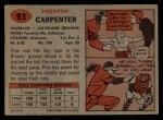 1957 Topps #93  Preston Carpenter  Back Thumbnail