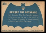 1966 Topps Batman Blue Bat Back #38 BLU  Beware the Batarang Back Thumbnail