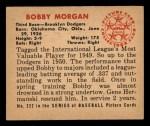 1950 Bowman #222 xCPR Bob Morgan  Back Thumbnail