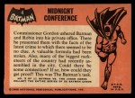 1966 Topps Batman Black Bat #4 BLK  Midnight Conference Back Thumbnail