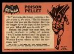 1966 Topps Batman Black Bat #11 BLK  Poison Pellet Back Thumbnail