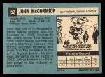 1964 Topps #52  John McCormick  Back Thumbnail