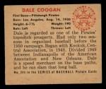 1950 Bowman #244  Dale Coogan  Back Thumbnail