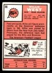 1966 Topps #86  Willie West  Back Thumbnail