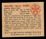 1950 Bowman #41  Hoot Evers  Back Thumbnail