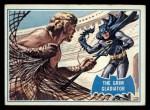 1966 Topps Batman Blue Bat Back #7 BLU  The Grim Gladiator Front Thumbnail