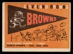 1959 Topps #38   Browns Team Checklist Front Thumbnail