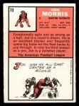 1966 Topps #10  Jon Morris  Back Thumbnail