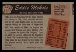 1955 Bowman #181  Eddie Miksis  Back Thumbnail