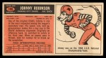 1965 Topps #109  Johnny Robinson  Back Thumbnail