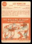 1963 Topps #143  Leo Nomellini  Back Thumbnail