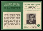 1966 Philadelphia #155  Clendon Thomas  Back Thumbnail