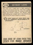 1959 Topps #139   Lions Pennant Back Thumbnail