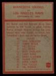 1965 Philadelphia #112   -  Norm Van Brocklin Minnesota Vikings Back Thumbnail