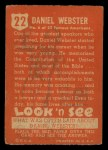 1952 Topps Look 'N See #22  Daniel Webster  Back Thumbnail