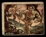 1950 Topps Freedoms War #161   On the Run  Front Thumbnail
