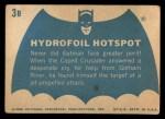 1966 Topps Batman Blue Bat Back #3 BLU  Hydrofoil Hotspot Back Thumbnail