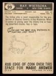 1959 Topps #99  Ray Wietecha  Back Thumbnail