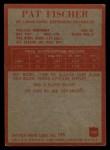 1965 Philadelphia #160  Pat Fischer   Back Thumbnail