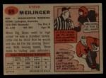 1957 Topps #89  Steve Meilinger  Back Thumbnail
