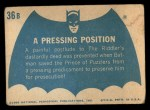1966 Topps Batman Blue Bat Back #36 BLU  Pressing Position Back Thumbnail