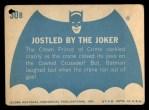 1966 Topps Batman Blue Bat Back #30 BLU  Jostled by the Joker Back Thumbnail