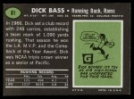 1969 Topps #81  Dick Bass  Back Thumbnail