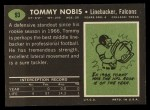1969 Topps #93  Tommy Nobis  Back Thumbnail