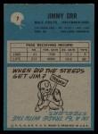 1964 Philadelphia #7  Jimmy Orr  Back Thumbnail