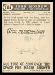 1959 Topps #164  John Morrow  Back Thumbnail