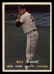 1957 Topps #86  Bill Sarni  Front Thumbnail