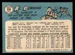 1965 Topps #598  Al Downing  Back Thumbnail
