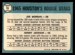 1965 Topps #16   -  Joe Morgan / Sonny Jackson Houston Rookies Back Thumbnail