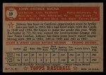 1952 Topps #19  Johnny Bucha  Back Thumbnail