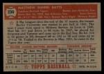 1952 Topps #230  Matt Batts  Back Thumbnail