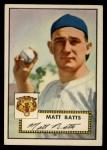 1952 Topps #230  Matt Batts  Front Thumbnail