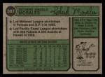 1974 Topps #387 *WASH* Rich Morales  Back Thumbnail