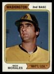 1974 Topps #387 *WASH* Rich Morales  Front Thumbnail