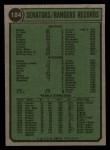 1974 Topps #184   Rangers Team Back Thumbnail