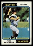1974 Topps #229  Fritz Peterson  Front Thumbnail