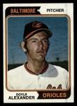 1974 Topps #282  Doyle Alexander  Front Thumbnail