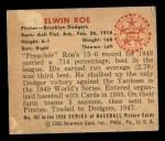 1950 Bowman #167  Preacher Roe  Back Thumbnail