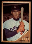 1962 Topps #190 CAP Wally Moon  Front Thumbnail