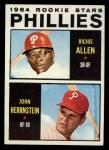 1964 Topps #243   -  Rich Allen / John Herrnstein Phillies Rookies Front Thumbnail