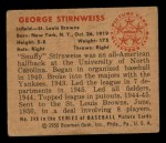 1950 Bowman #249  George Stirnweiss  Back Thumbnail