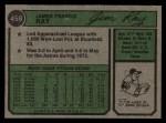 1974 Topps #458  Jim Ray  Back Thumbnail