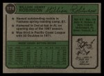 1974 Topps #174  Bill Robinson  Back Thumbnail